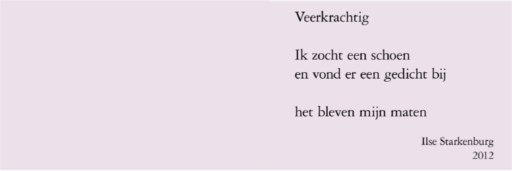 Gedicht van Ilse Starkenburg voor Neel Korteweg