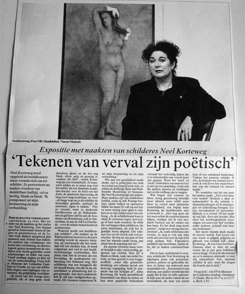 Marianne Vermeijden foto Vincent Mentzel. NRC 23 juni 2001
