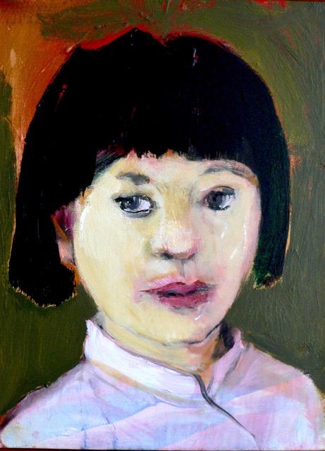 Neel Korteweg Balinees meisjesportret 2010
