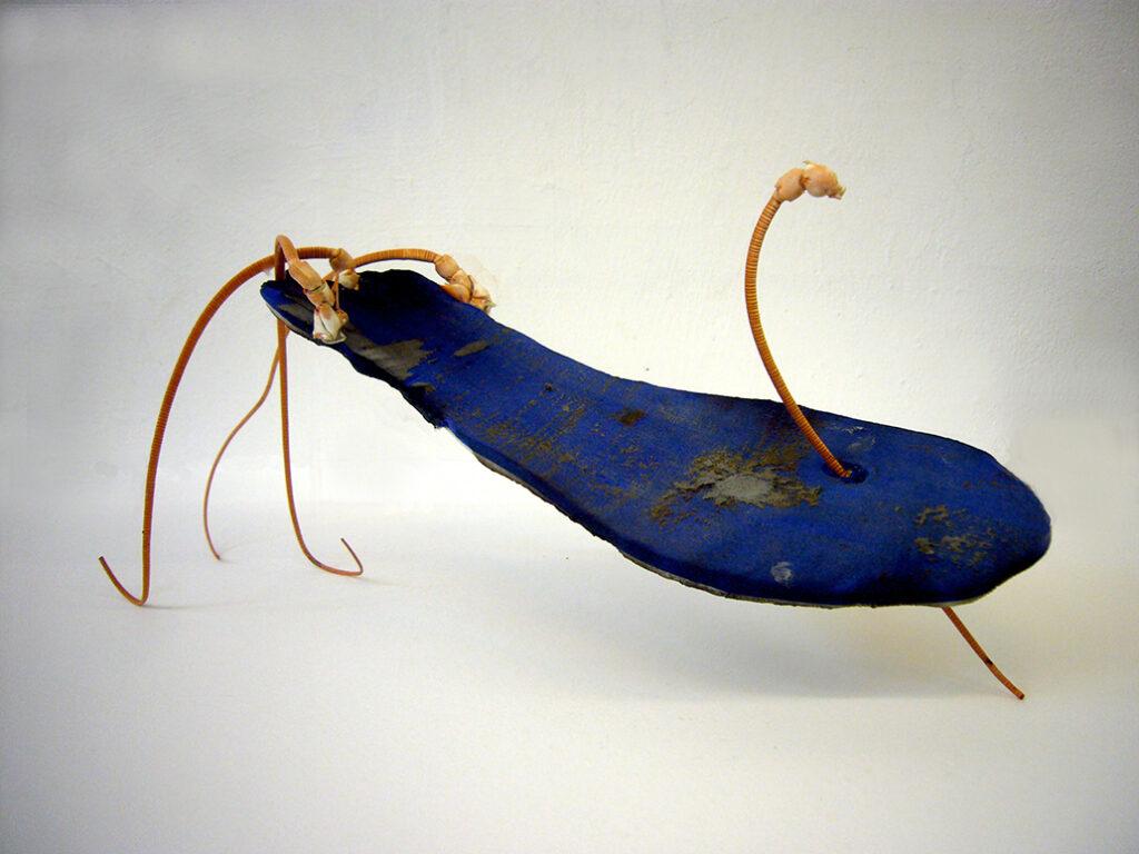 Neel Korteweg Blauw zooltje met kreeftvoelsprieten 2011
