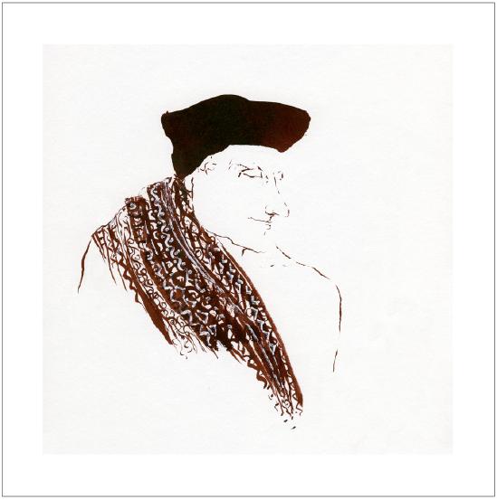 Neel Korteweg Erasmus draagt baret