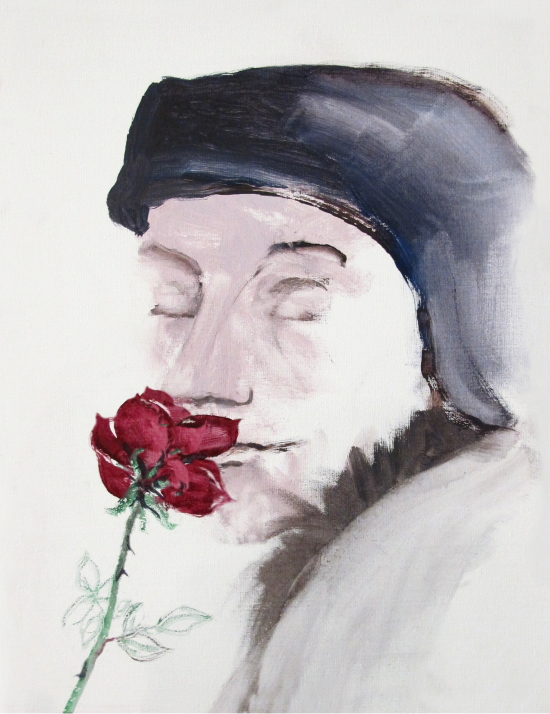 Neel Korteweg Erasmus met roos