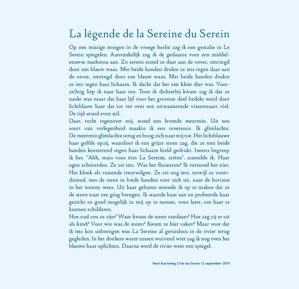 Neel Korteweg Legende La Sirène du Serein hi-res