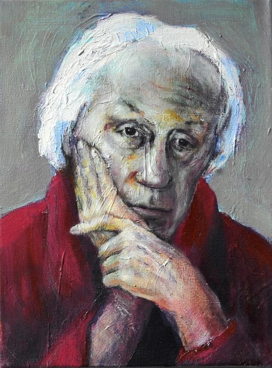 Neel Korteweg Portret van Jan van Nieuwenhuijzen