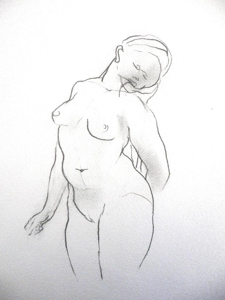 Neel Korteweg Uit de serie Vroeg Licht, potlood tekening op papier 2000