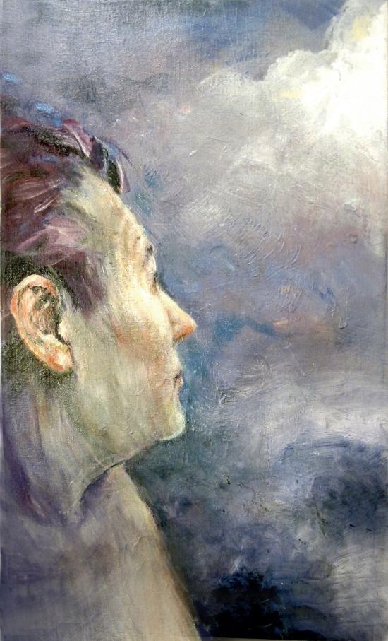 Neel Korteweg Zelfportret Gedachtenlicht 1