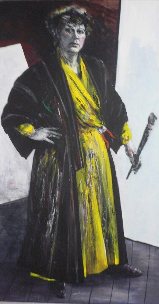 Neel Korteweg Zelfportret als mevrouw Beckmann