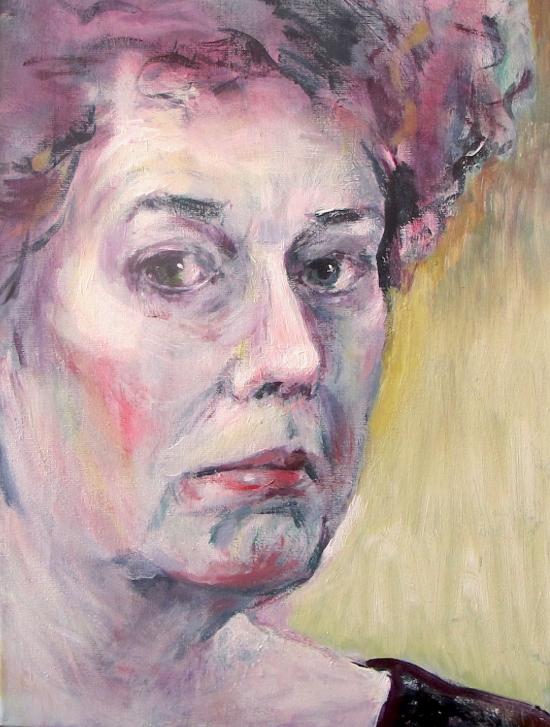 Neel Korteweg Zelfportret na de dood van vader 1995