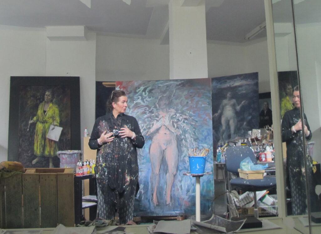 Neel Korteweg in atelier