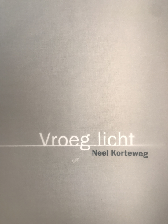 Neel Korteweg omslag catalogus Vroeg licht