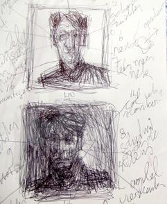 Neel Korteweg voorstudie portret Anneke Brassinga